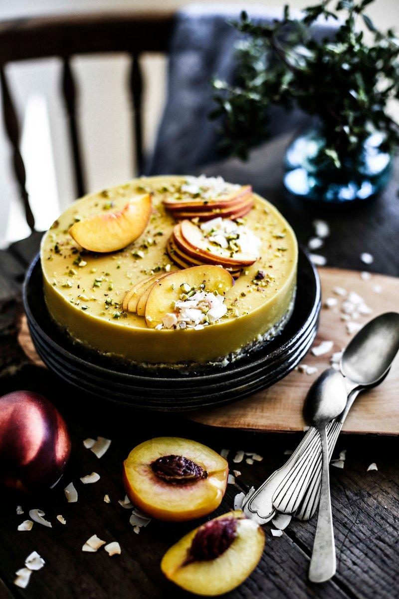 Tarte de nectarinas, coco e amêndoa (sem glúten, lacticínios ou açúcar) # Nectarine, coconut and almond tart (glúten, sugar and dairy free)